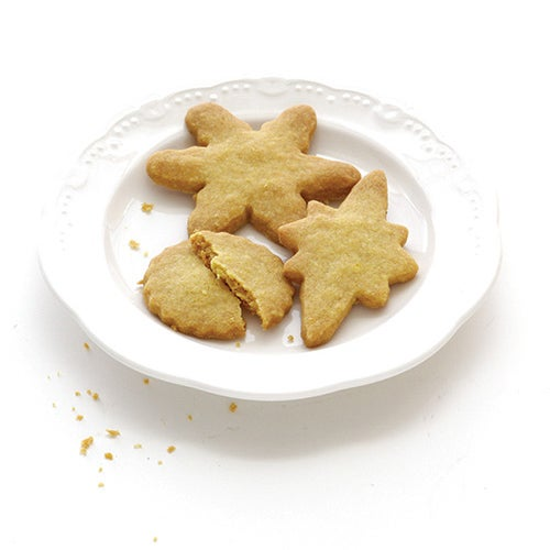 Spicy Ginger Shortbread Cookies