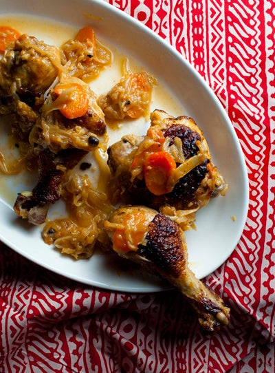 Grilled Chicken in Caramelized Onion Sauce (Yassa Poulet)