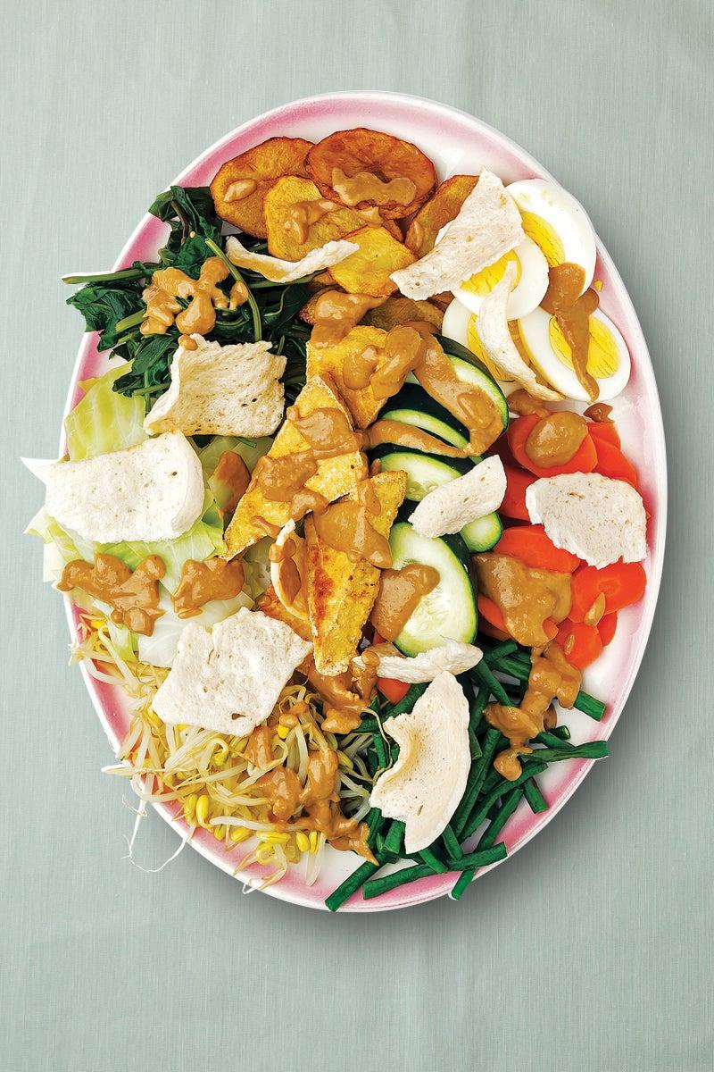 Indonesian Vegetable Salad With Peanut Dressing Gado Gado