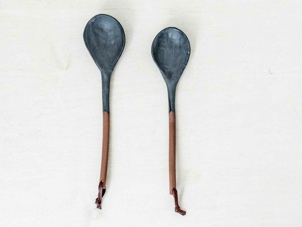 Oversized Glazed Stoneware Spoon | Kati Von Lehman