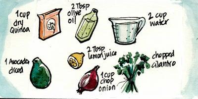 Recipe Comix: Quinoa and Avocado Salad