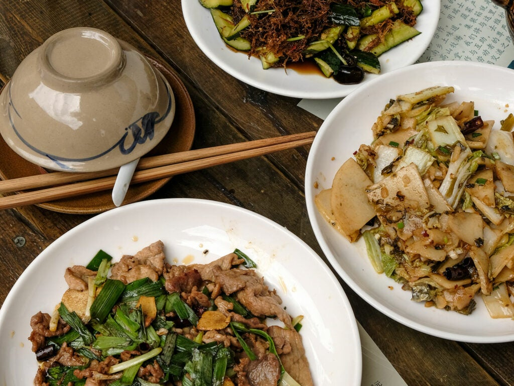 erkui with cucumbers and sichuan-spiced pork loin