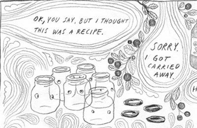 Recipe Comix: Swedish Blueberry Jam and a Swedish Blueberry Mess