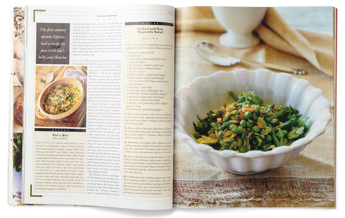 20 Years of SAVEUR: Peas, Please
