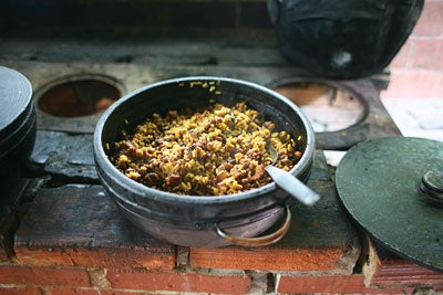 a dish of rice and black-eyed peas