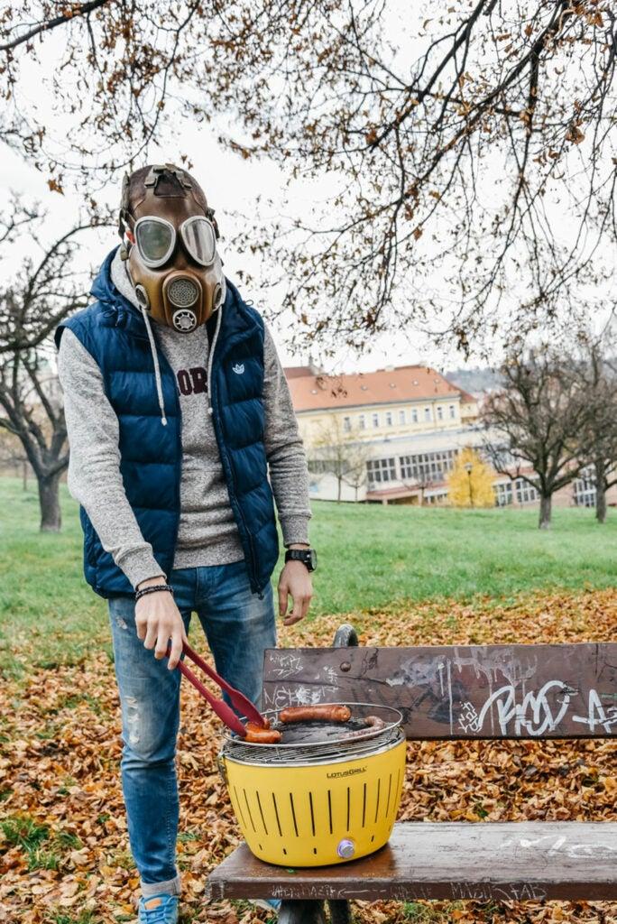 Smokeless Grilling in Prague, Czech Republic
