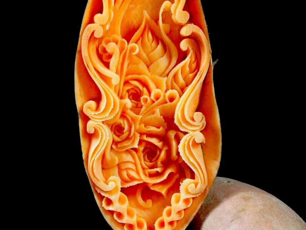 Carved Sweet Potato