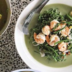 Yum Pak Grood (Fern Curry with Shrimp)