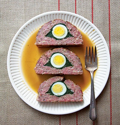 Egg-and-Spinach-Stuffed Meat Loaf