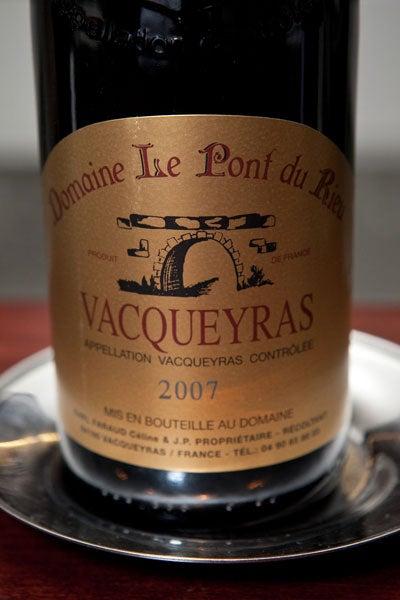 Tasting Notes: 2007 Vacqueyras Le Pont du Rieu