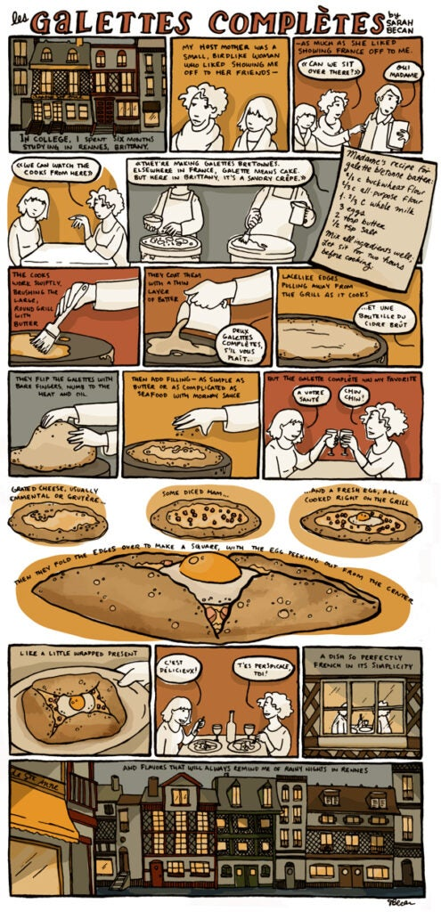 comic strip about crepes