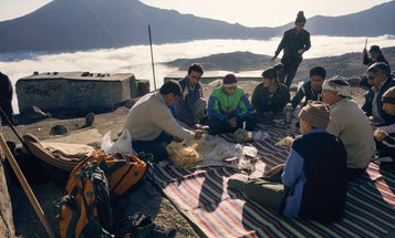What It's Like to Eat Breakfast Above the Clouds