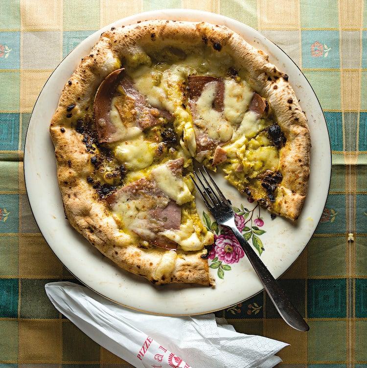 Pistachio and Mortadella Pizza (Pizza Pistacchio e Mortadella)