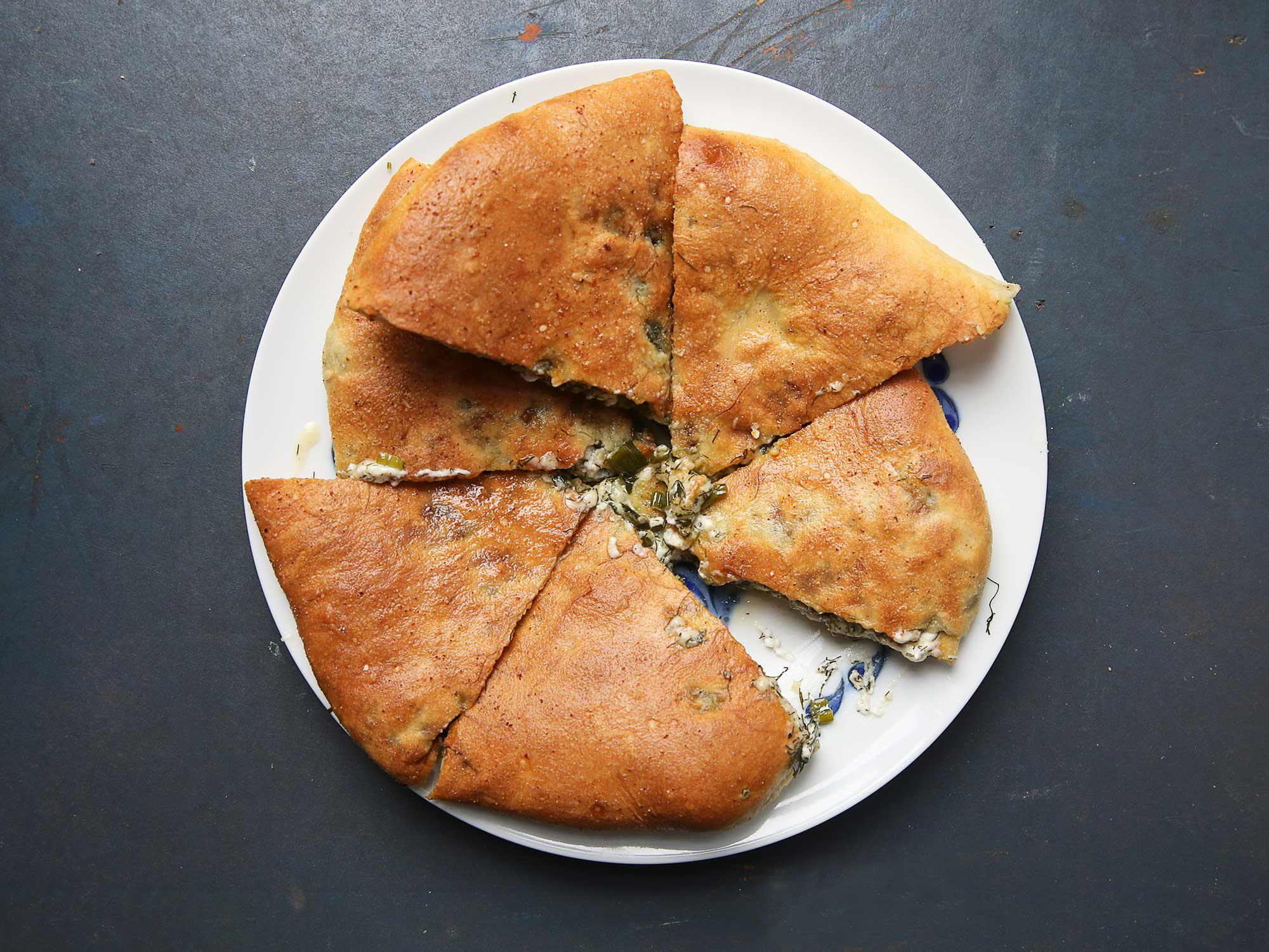 Ossetian Beet Top and Cheese Pies