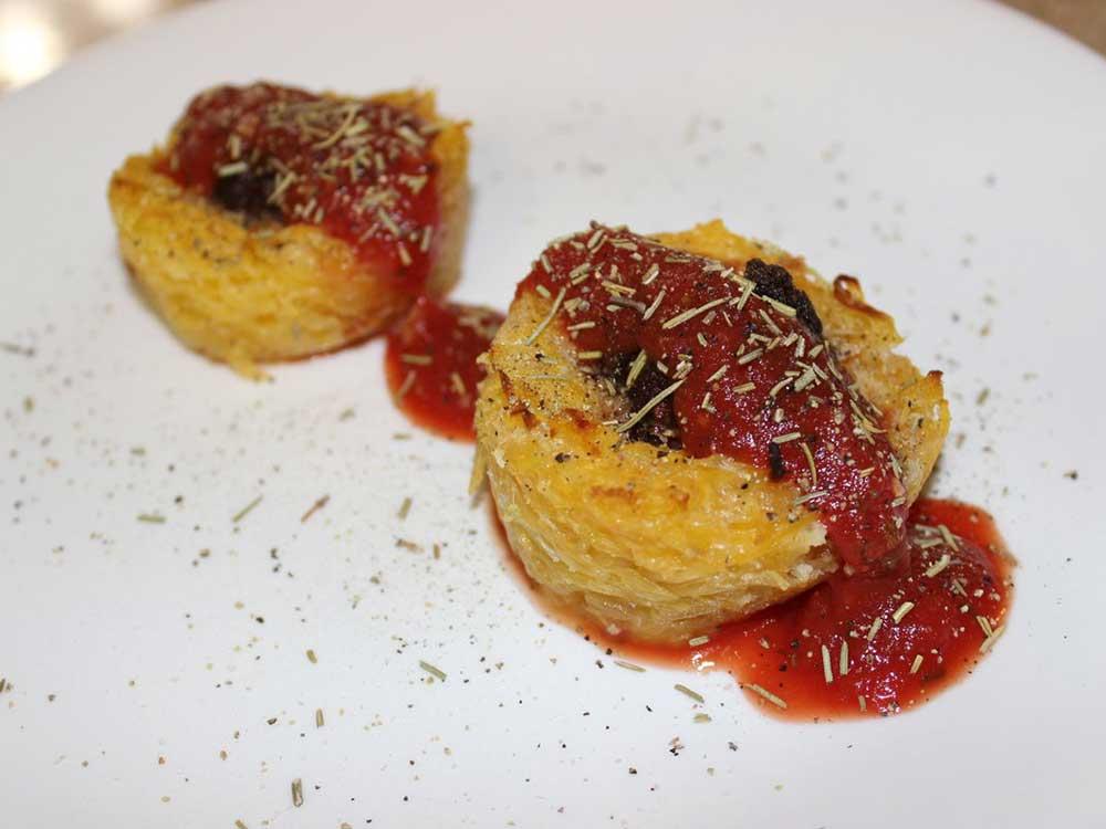 Elk Meatballs in Spaghetti Squash Nests