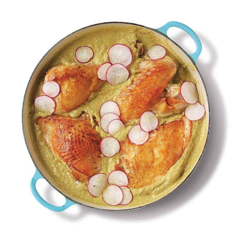 Braised Turkey in Green Mole