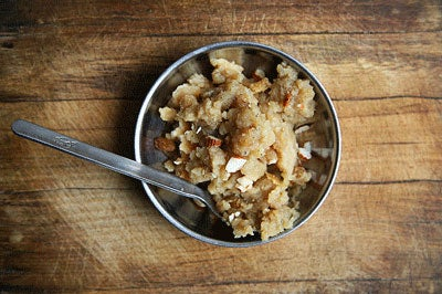 Sweet Porridge with Raisins and Almonds
