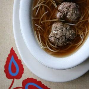 Beef Noodle Soup with Liver Dumplings (Hovezi Polevka s Nudlemi a Jatrovymi Knedlicky)