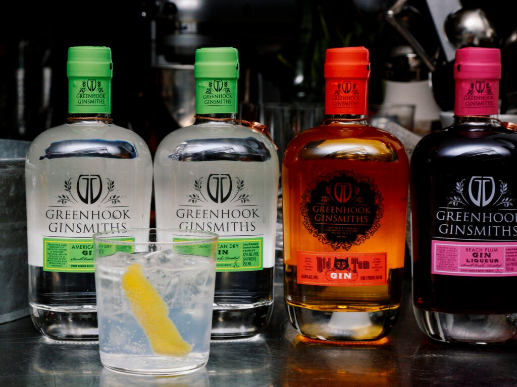 Guests were treated to wines from Lustau and gin-and-tonics made with Greenhook Ginsmiths gin and Fever Tree tonic.