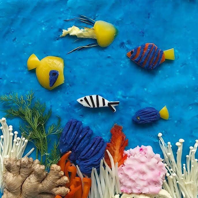 underwater food art