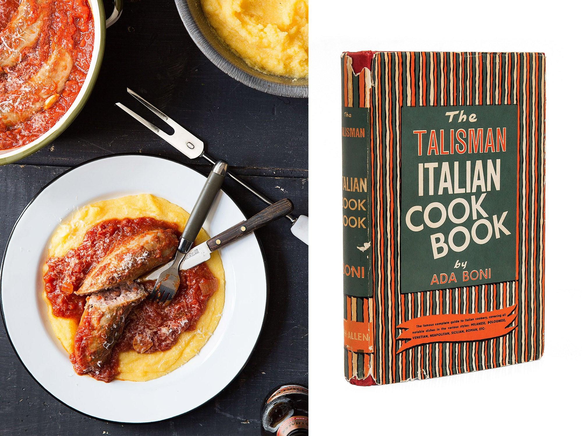 ada boni italian cookbook sausage gravy polenta
