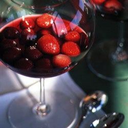 Red Wine with Strawberries