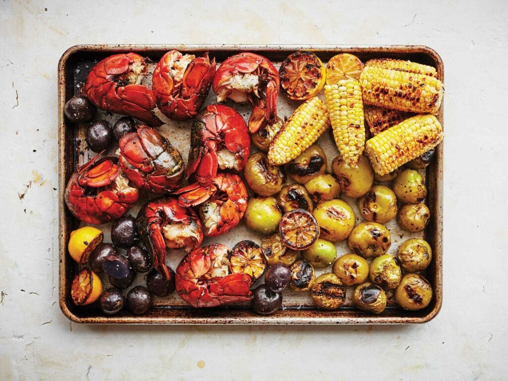Grilled Lobster, Corn, & Summer Vegetables