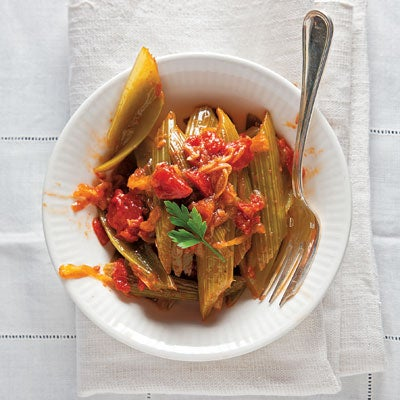 Braised Celery and Tomato (Sedano e Pomodori Brasati)