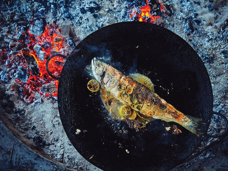 grilled stuffed trout