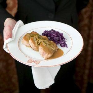 Pork Noisettes with Charcutière Sauce