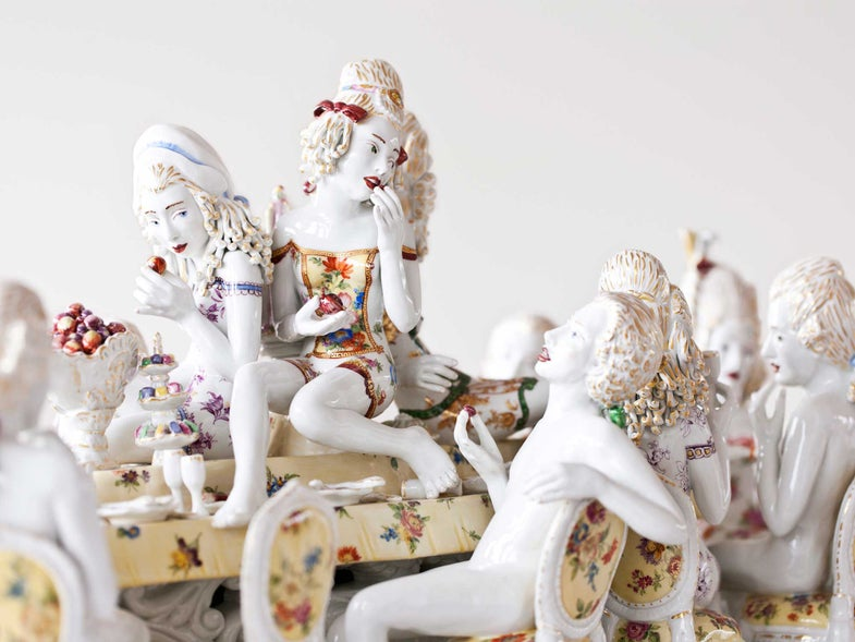 These Porcelain Sculptures Tease Lust and Seduction Through Culinary Excess