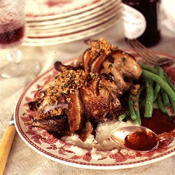 Roast Grouse with Bread Sauce and Game Crumbs
