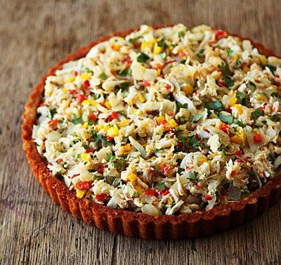 Crab Tamale Tart