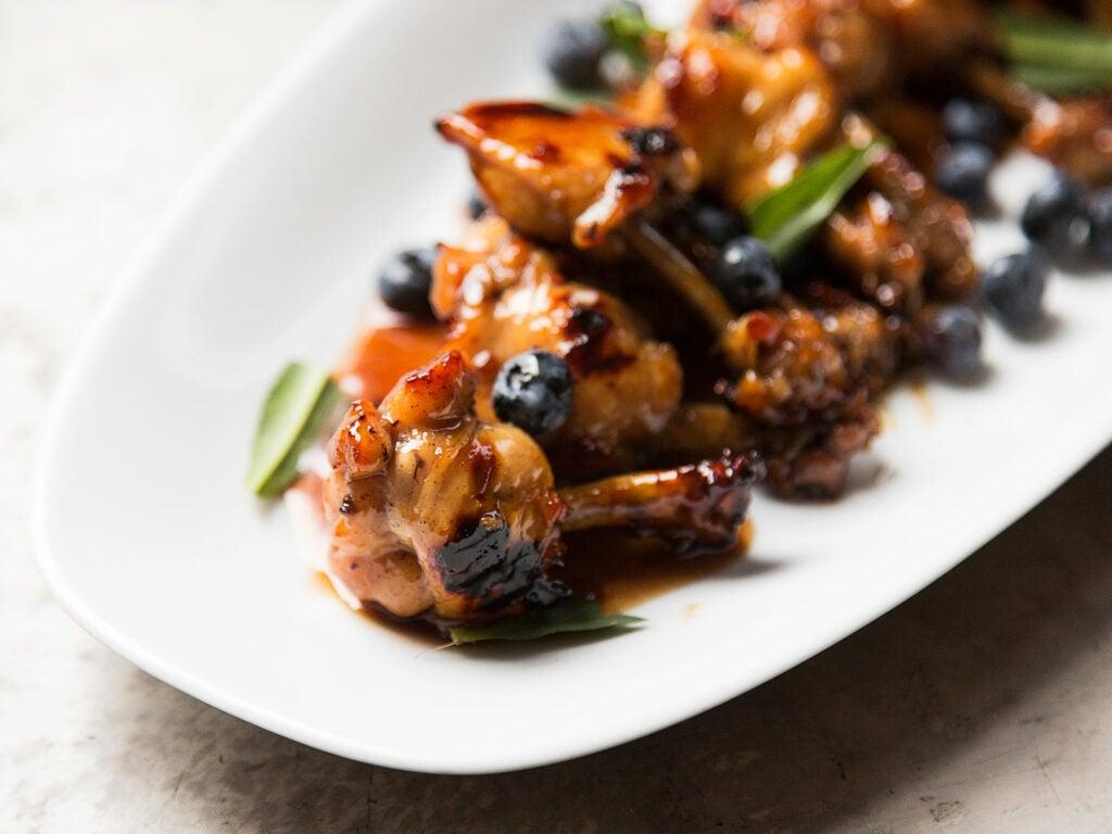 Vivan Howard Blueberry BBQ Sauce Wings