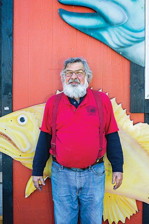 A South Beach Seafood customer