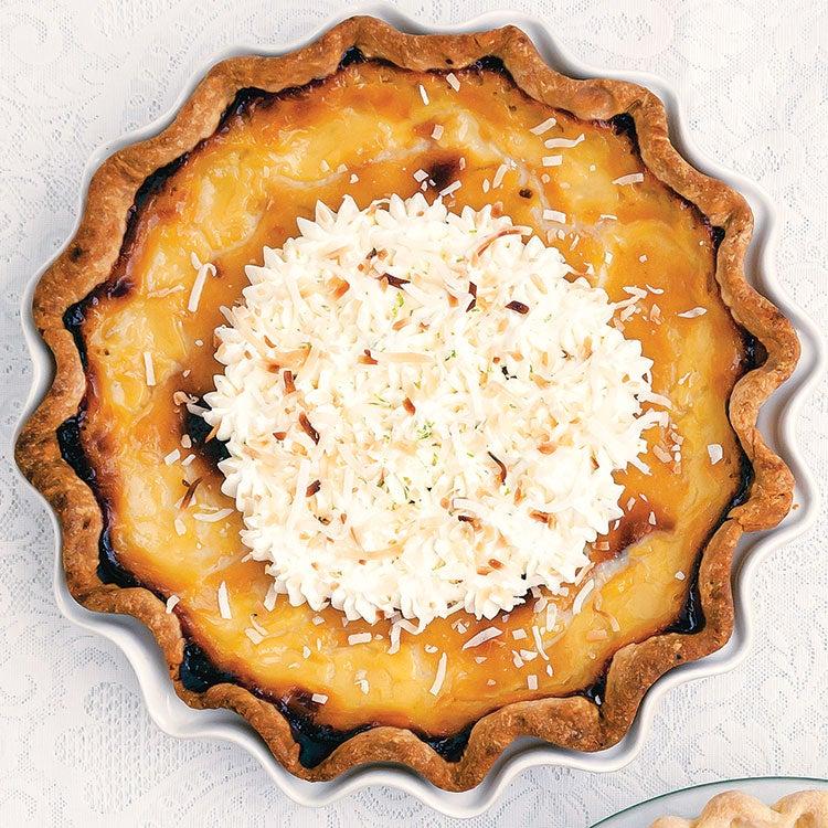 Coconut Lime Custard Pie