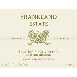 Frankland Estate Frankland River (Western Australia) Dry Riesling Isolation Ridge Vineyard 2006