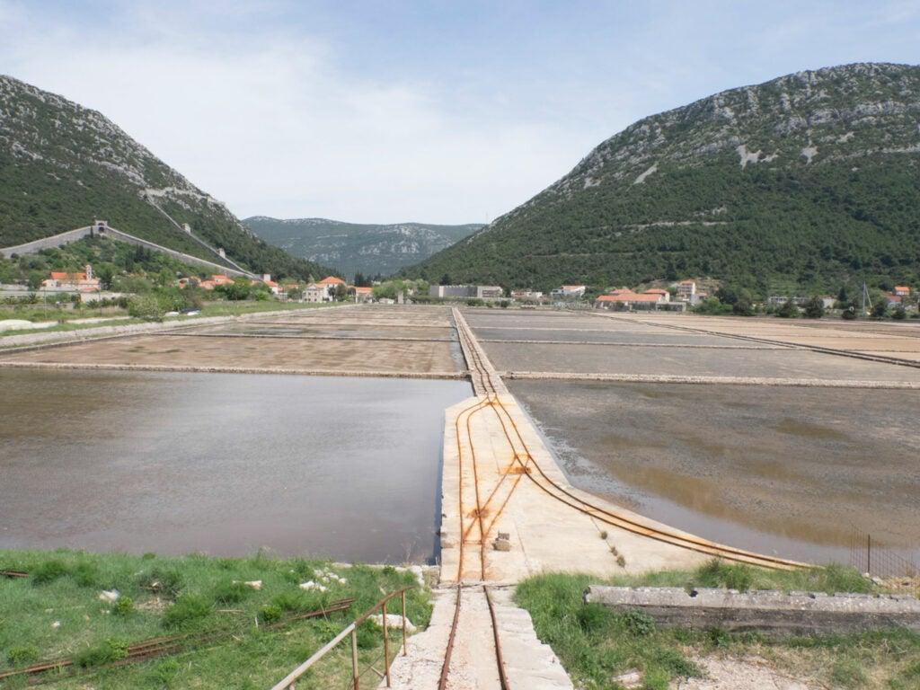 Salt Fields in Ston, Croatia