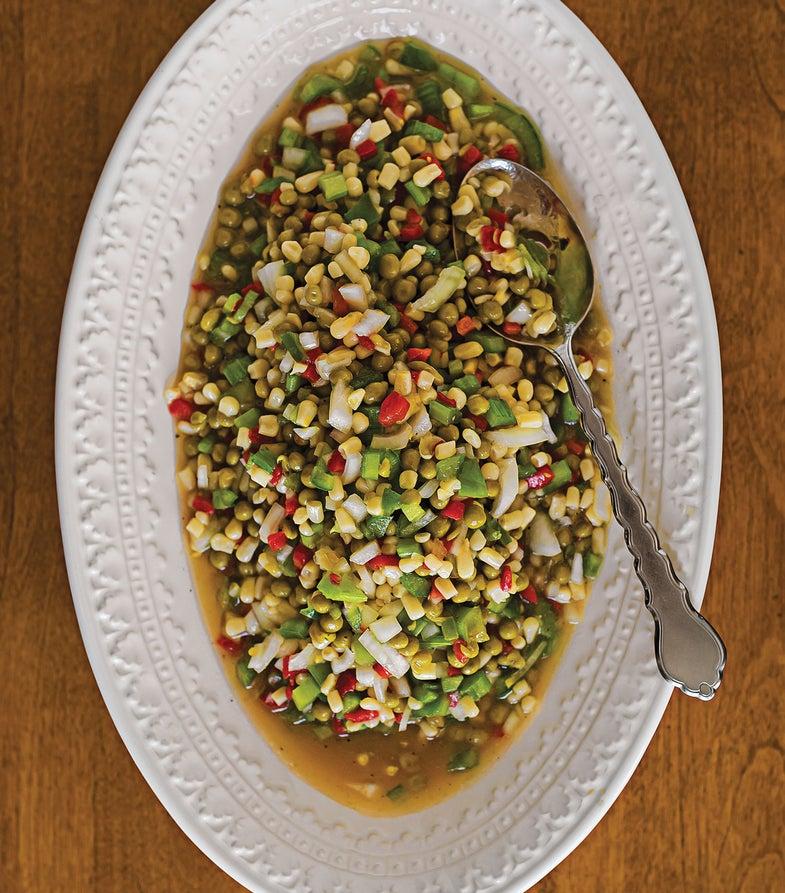Fresh Pea and Corn Salad