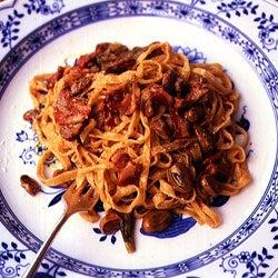 Fettuccine with Fava Beans