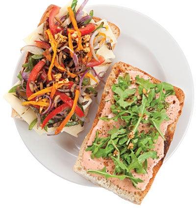 Stir-Fried Vegetable Sandwich (Asaltado Vegetariano)