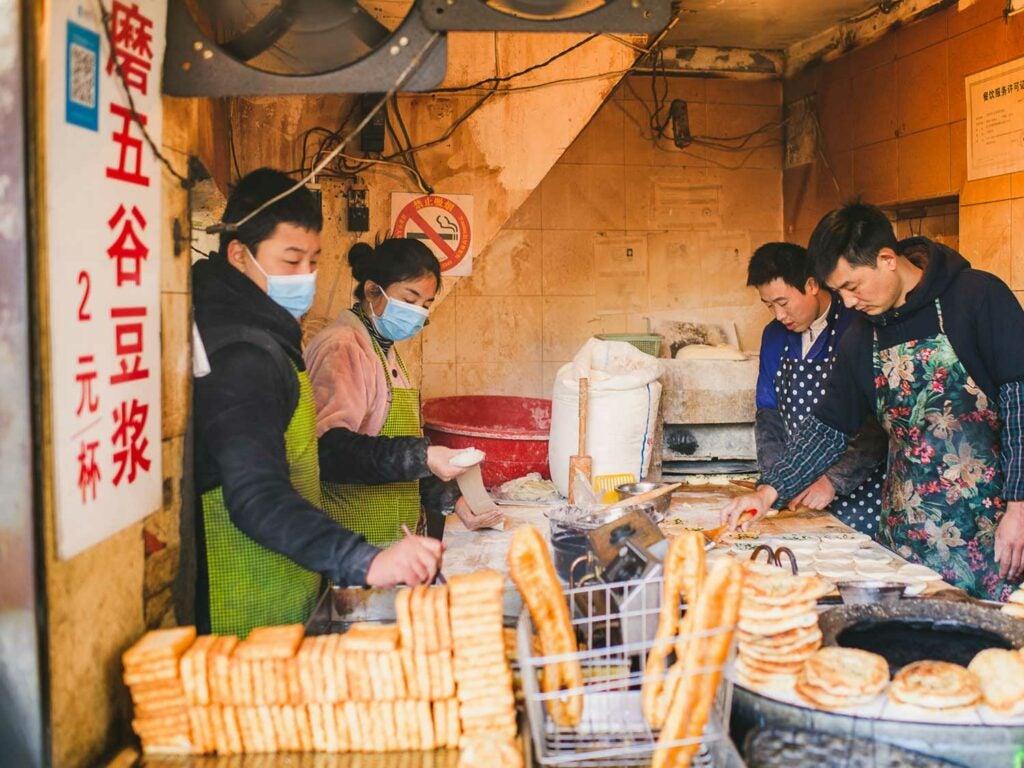 Shanghai Breakfast assembly line