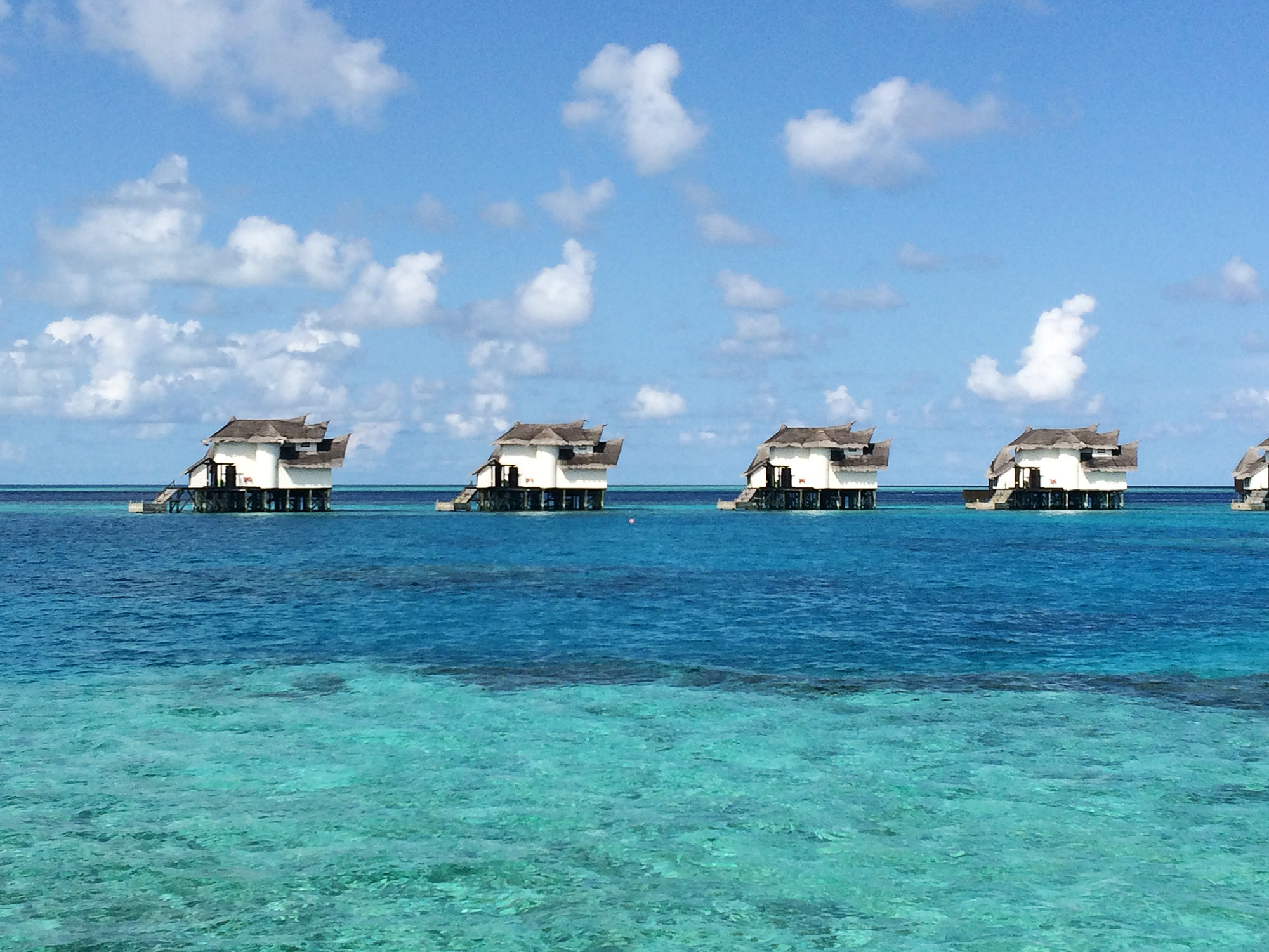 Eating Breakfast in the Maldives
