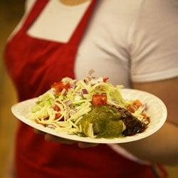 Christmas-Style Machaca Burrito