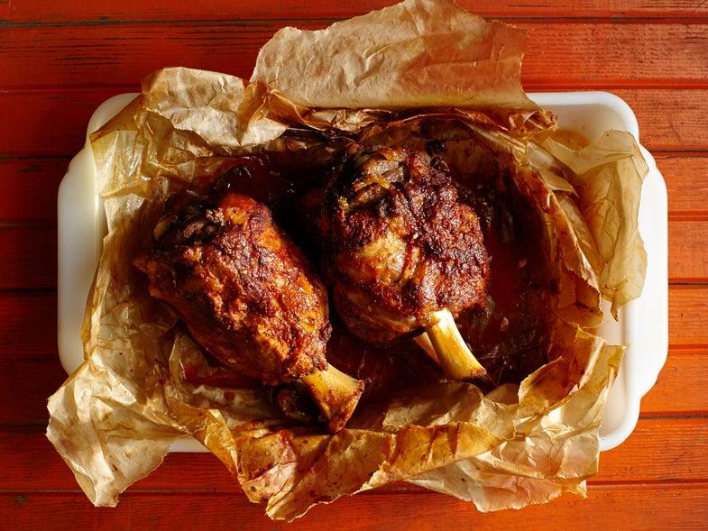 Chilean Spice-Rubbed Pork Shanks