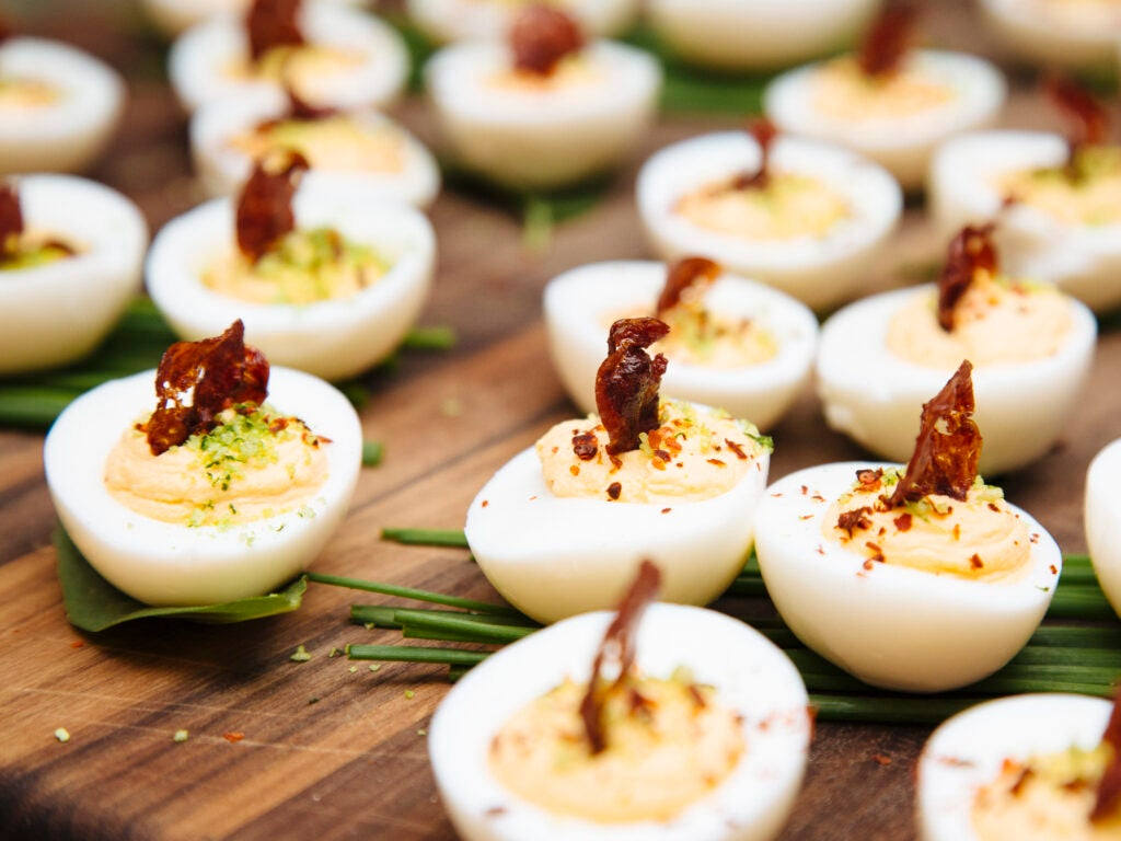 Beautiful, beautiful deviled eggs