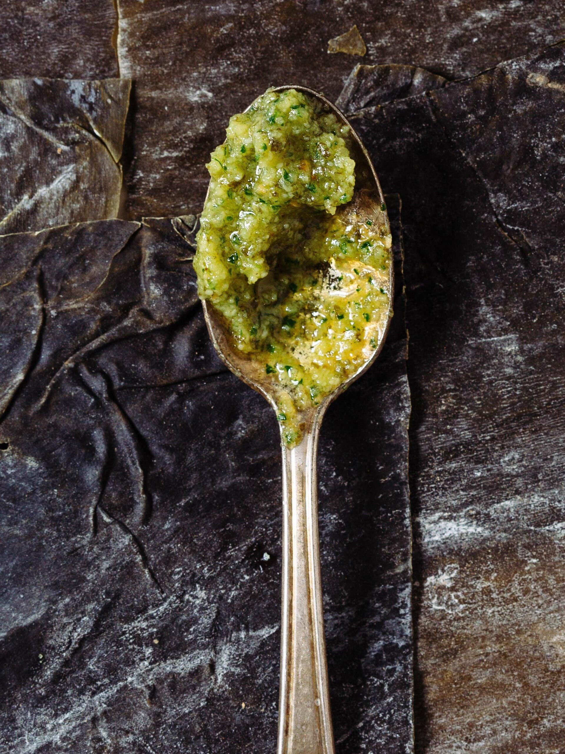 Make Extra Savory Pesto With Seaweed