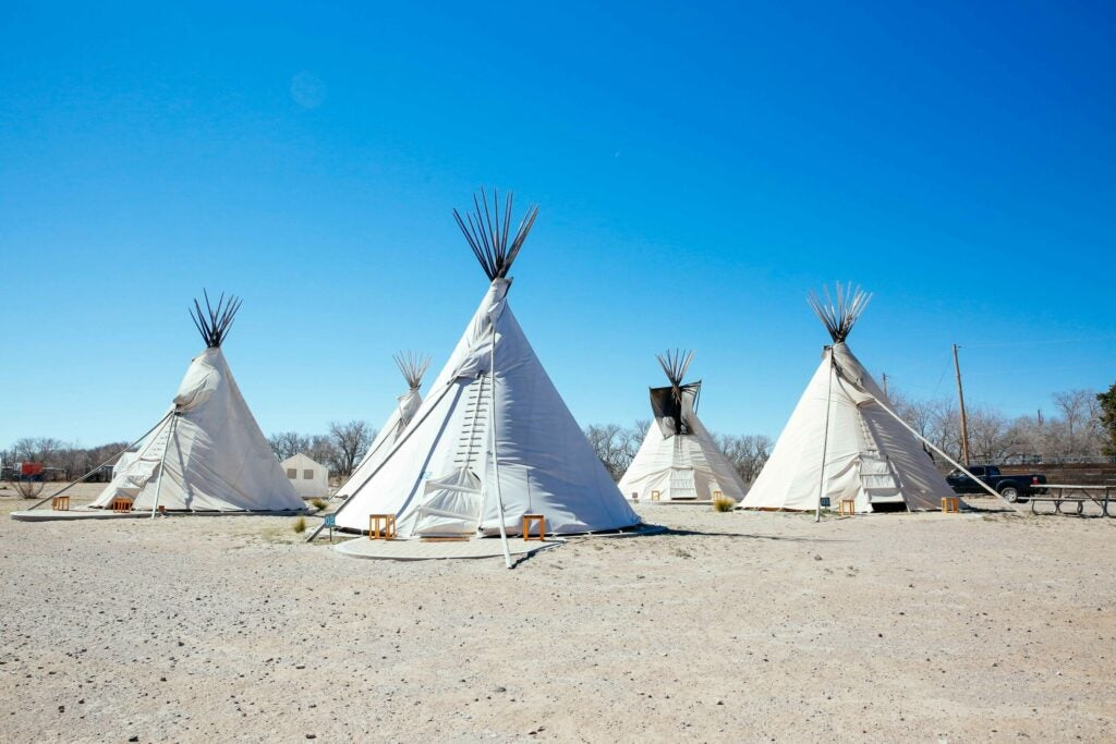 If trailers aren't really your thing, try a teepee
