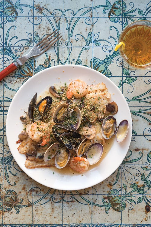 Sole with Mushrooms and Shellfish