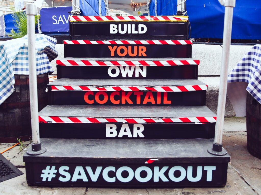 savcookout, build your own cocktail bar